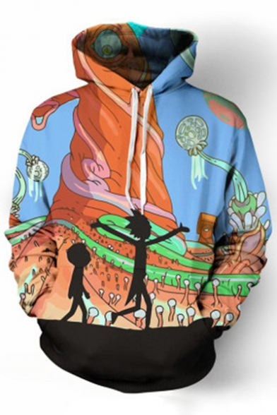 Sleeve 3D Character Fashion Long Pattern Cartoon Casual Hoodie Hot xC6HwYqaa