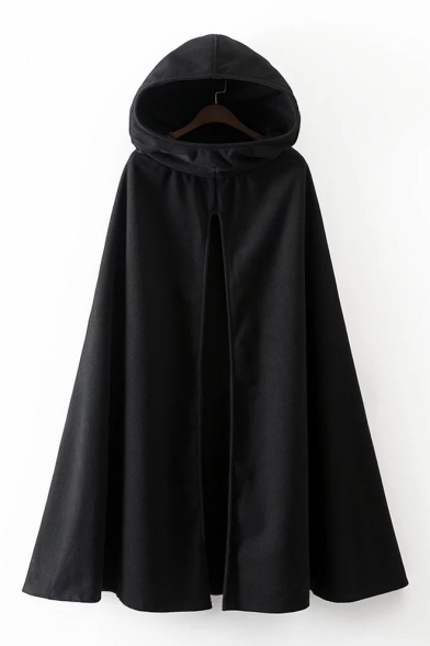 Simple Arrival Cape Hooded New Front Open Plain Longline gxdwx574q