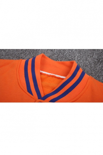 Japanese Collection Color Block Panel Contrast Trim Long Sleeve Baseball Jacket