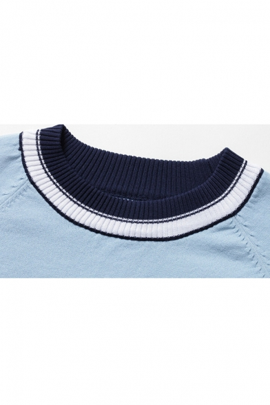 Short Arrival New Neck Sleeve Pattern Striped Fashion Round Sweater x7dHwdqYr