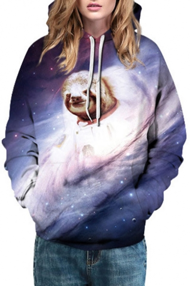 Sports Fashion Hoodie Hot Unisex Long Galaxy Coala Pattern Sleeve Basic RqwgOSax