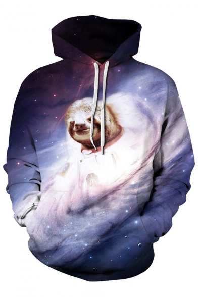 Hoodie Coala Unisex Hot Sports Basic Sleeve Long Fashion Galaxy Pattern gwzxw6SCq