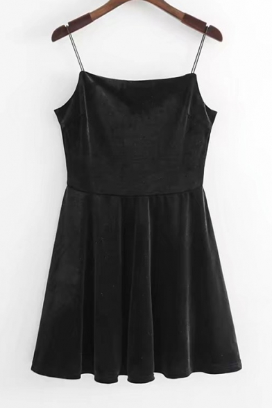 New Stylish Simple Mini Cami Skater Dress