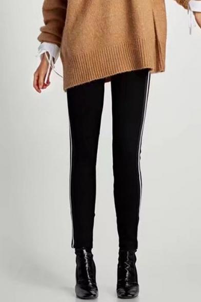 Fashion Striped Pattern Side Elastic Waist Sports Skinny Pants LC451798 фото