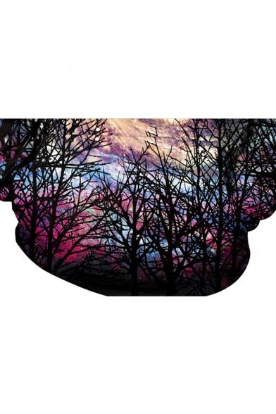 Sleeve Long Print Loose 3D Arrival Hoodie Starry Night New wOPgqO
