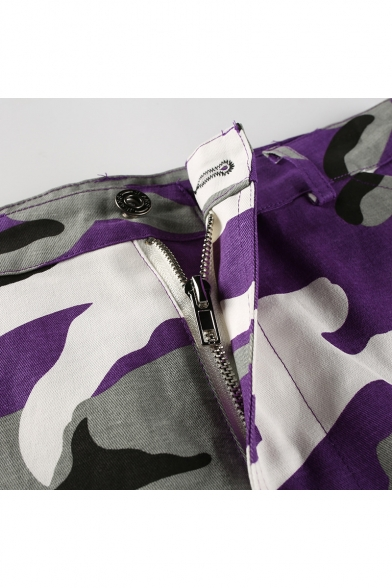 New Fashion Cool Camouflage Pattern Zip-Fly Pants