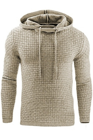 Leisure Hoodie Pullover Long Simple Sleeve Jacquard dwq1Tdxz6Z