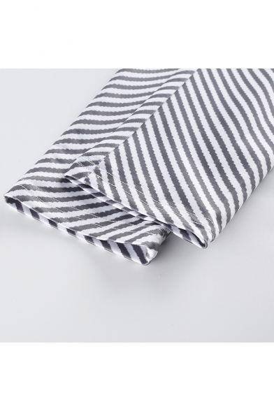 Hot Fashion Stripe Print Elastic Waist Leisure Track Pants