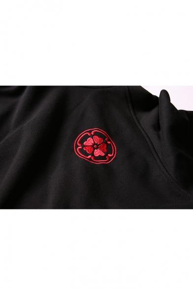 Hoodie Sleeve Leisure Embroidered Long Fashion Carp New 5Yqw0XA