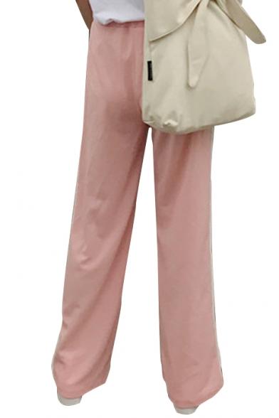 New Arrival Fashion Heart Striped Pattern Side Loose Wide Legs Sports Pants