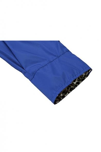Down Sleeve Long Lapel Simple Plain Waterproof Raincoat Buttons Longline tq466Z