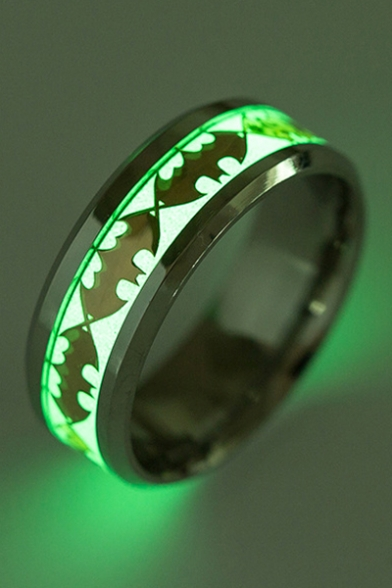 Fashionable Luminous Bat Pattern Ring