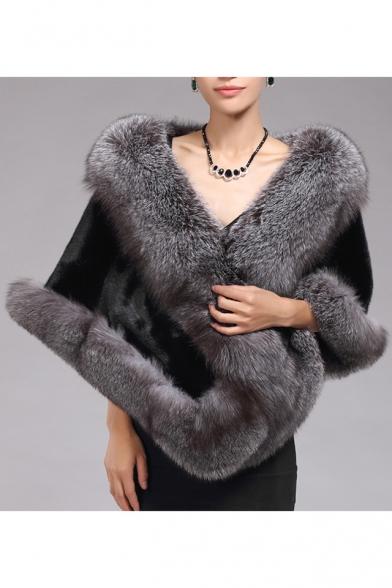 New Stylish Winter's Warm Faux Fur Coat