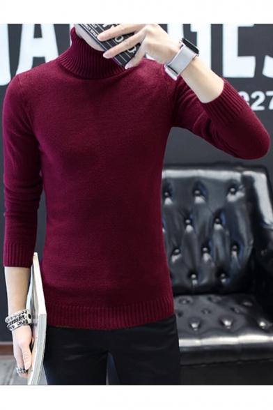 Stylish Sleeve Long Turtleneck Print New Sweatshirt Pullover PFSxwwq