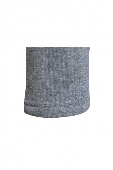 New Stylish Zipper Split Front Long Sleeve Simple Plain Hoodie