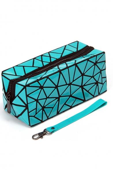 New Fashion Diamond Pattern Zippered Makeup Bag