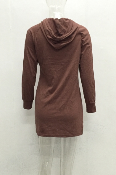 Hoodie Fashion Mini New Simple Plain Long Sleeve Dress Sports x4zZHwYq
