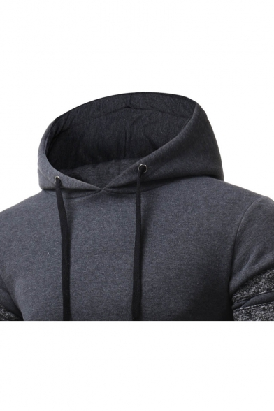 Sleeve Patchwork Hoodie Long Fashionable Hood Drawstring Unisex t6qtFR
