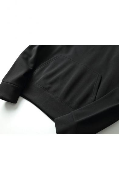 Hoodie Unisex Letter Drawstring Hood Sleeve Casual Simple Print Long 6Wz8vp0FqF