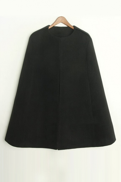 New Stylish Collarless Simple Plain Tunic Poncho