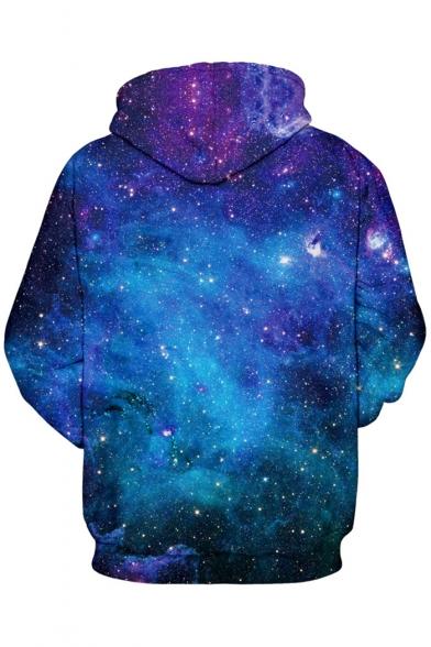 Sleeve Printed Hoodie Long Colorful with Unicorn Galaxy Pocket Kangaroo HqpTIx