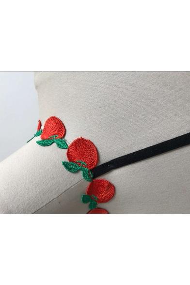 New Pattern Stylish Strap Fruit Bralet Strawberry BARwYTq
