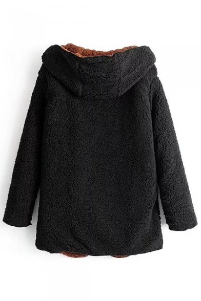 Coat Open Simple Fashion Longline Front Sleeve New Hooded Long q7H86x