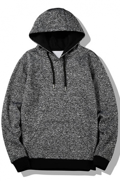 Hoodie Unisex Print Sleeve Long New Drawstring Hood Stylish Leisure pwUnTq8