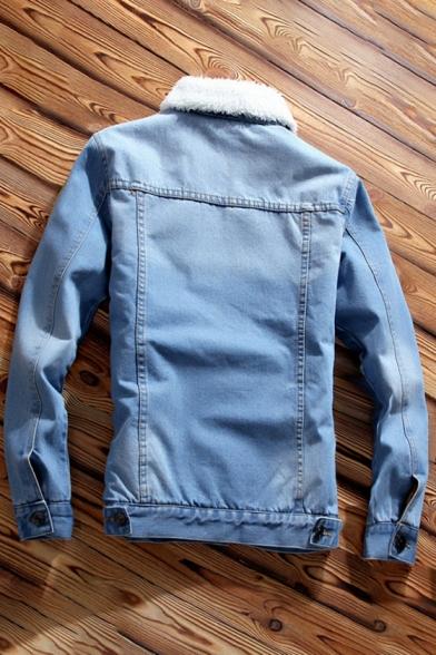 New Stylish Print Long Sleeve Single Breasted Denim Jacket