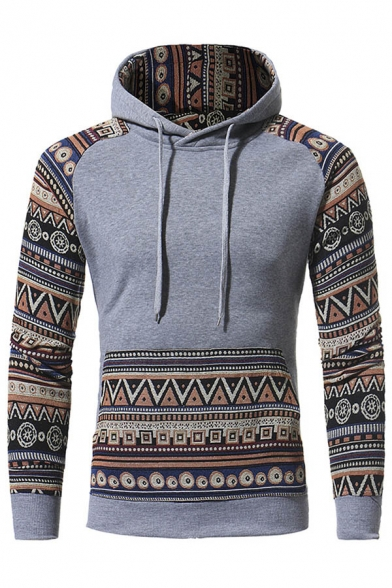 Leisure Stylish Unisex Drawstring Tribal New Print Hoodie Hood XdqOBH