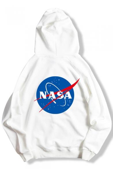 Simple Long Logo Pocket with Printed Sleeve Raglan Pullover Hoodie 114Fr6qn