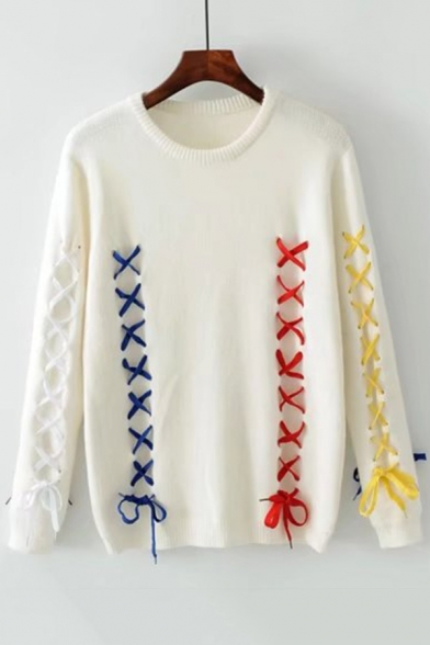 Chic Cute Round Neck Long Sleeve Sweater