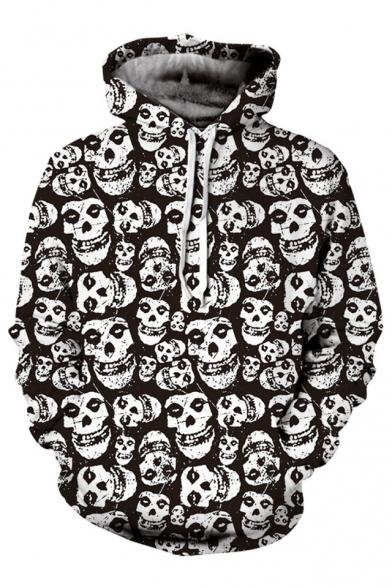 New Fashion Skull Pattern Long Sleeve Hoodie