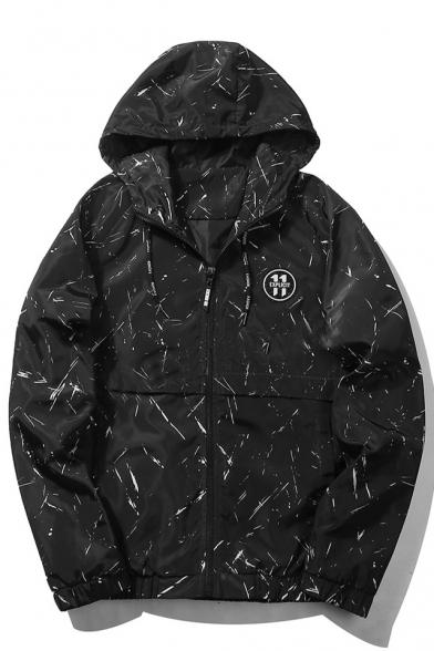New Simple Hooded Long Sleeve Zipper Fly Jacket