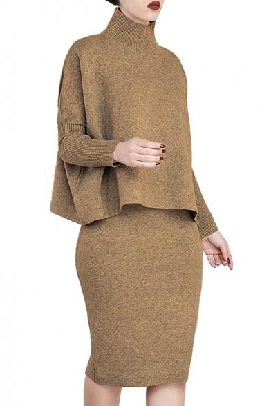 Chic Simple Plain Long Sleeve Tee Co-ords, Black;brown;burgundy;gray, LC455824