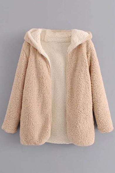 Simple Fashion Hooded Sleeve Long Coat Open Longline New Front aHwPO5qq