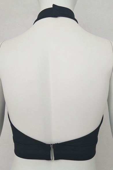 Cami Neck Sexy Straps Cutout Halter Open Cropped Crossed Front Back 655xzrqn