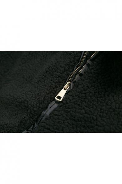 Stylish Zipper Long Sleeve Warm New Coat Plain Simple OBTxqHdt