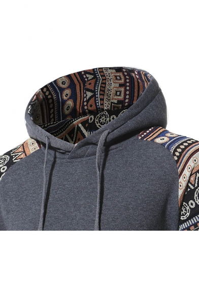 Unisex New Hoodie Leisure Stylish Hood Drawstring Print Tribal qYg8wqP