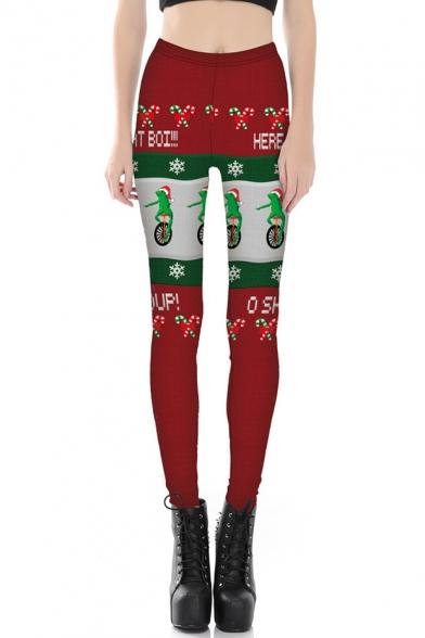 Fashion 3D Christmas Print Elastic Waist Leggings