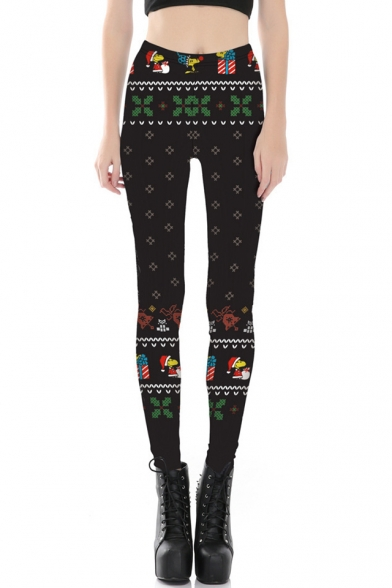 New Stylish 3D Christmas Theme Print Elastic Waist Leggings