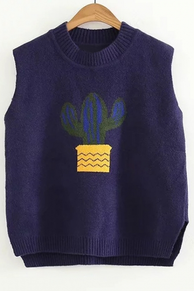 Pattern Fashion Cactus Sweater New Striped Vest AUY6nqa