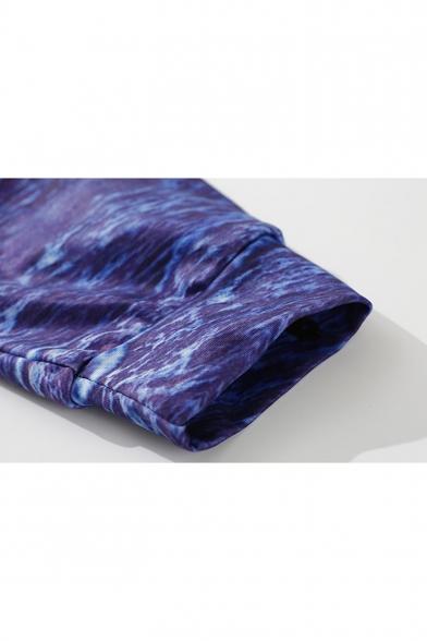 New Placket Print Sleeve Zip Fashion Coat Hooded Sun Long Rise OqTHO