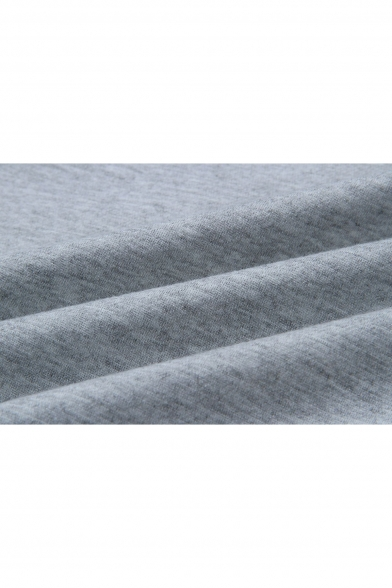 New Stylish Contrast Trim Lace-Up V-Neck Long Sleeve Mini Dress