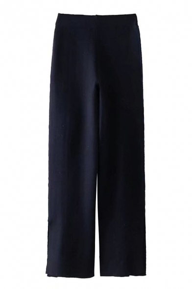 Leisure Striped Side Elastic Waist Pants