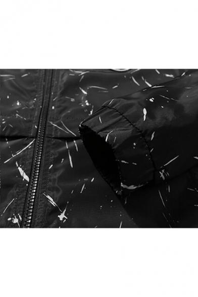 Color Jacket Drawstring Hooded Fashion Unisex Casual Print Block Hood B8fBwdnqz