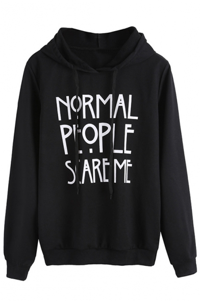 New Fashion Simple Letter Print Long Sleeve Hoodie