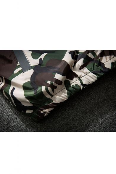 New Fashion Camouflage Pattern Zip Up Long Sleeve Coat