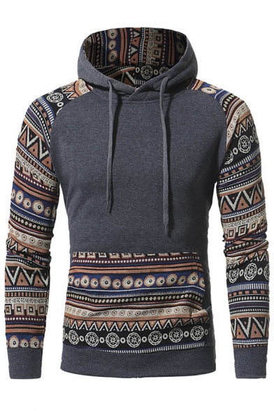 Hoodie Hood New Leisure Print Stylish Tribal Drawstring Unisex ppq08I