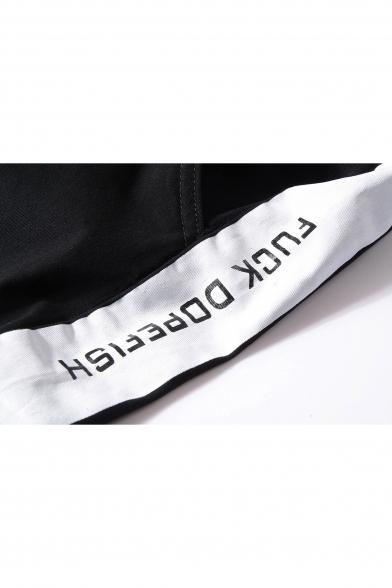 Fashion Letter Print Drawstring Waist Sports Pants
